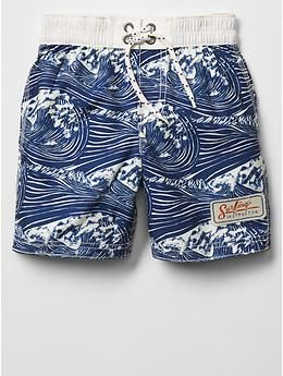These are his swim trunks that he wears because he is the swim instructor at the camp