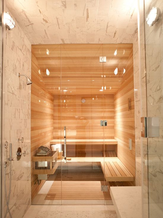 really really really have ALWAYS wanted a sauna in my bathroom.... now to convince the hubs