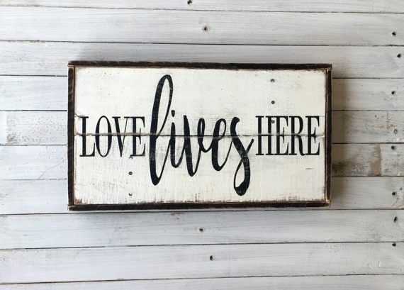 Love Lives Here Pallet Sign Wood Sign Framed Sign