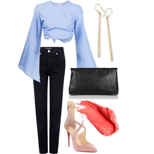 A fashion look from July 2016 featuring Rosie Assoulin tops, Être Cécile jeans and Christian Louboutin pumps. Browse and shop related looks.