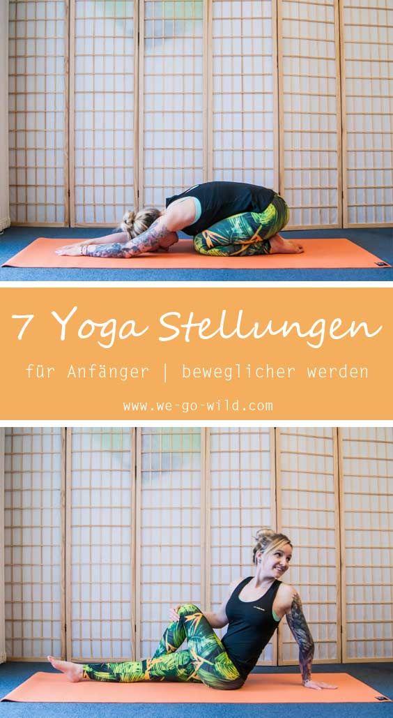 Bei diesem Yoga für Anfänger wirst du beweglicher werden. Denn das Yoga für mehr Beweglichkeit zielt darauf ab, dich sanft zu dehnen und zu strecken. Diese Yoga Übungen können ganz einfach zu Hause gemacht werden, man braucht nur eine Yogamatte. #Yoga #Übungen #Fitnessübungen