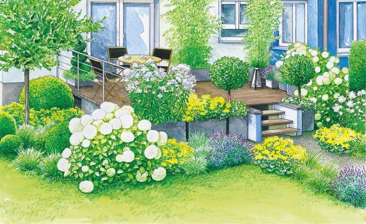 Neugestaltung einer geräumigen Terrasse Gardens, Garden ideas and - umgestaltung krautergarten dachterrasse