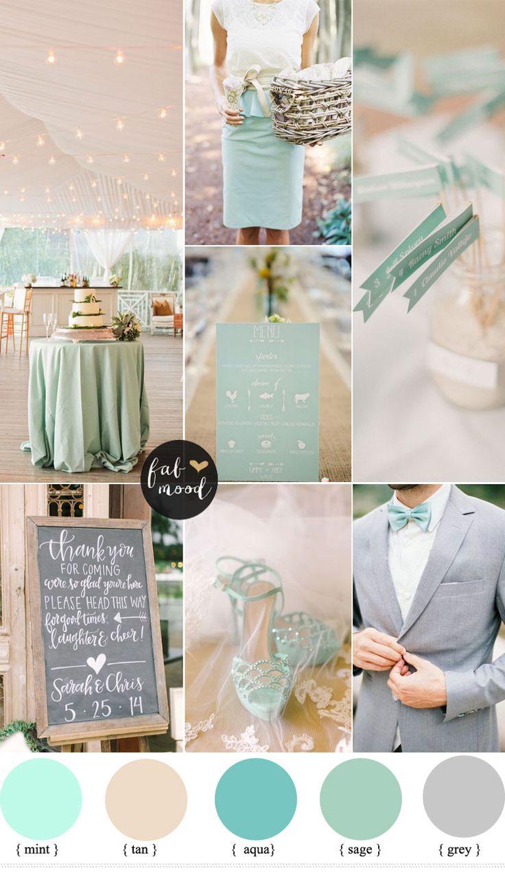 mint and tan wedding colour palette | fabmood.com #weddingcolours #weddingtheme #wedding #springwedding