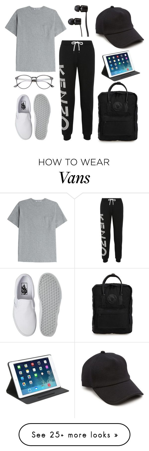 """""""I have been editing photos since 1am"""" by beautyguru-secrets on Polyvore featuring rag & bone, T By Alexander Wang, Kenzo, Vans, Fjällräven and Kate Spade"""