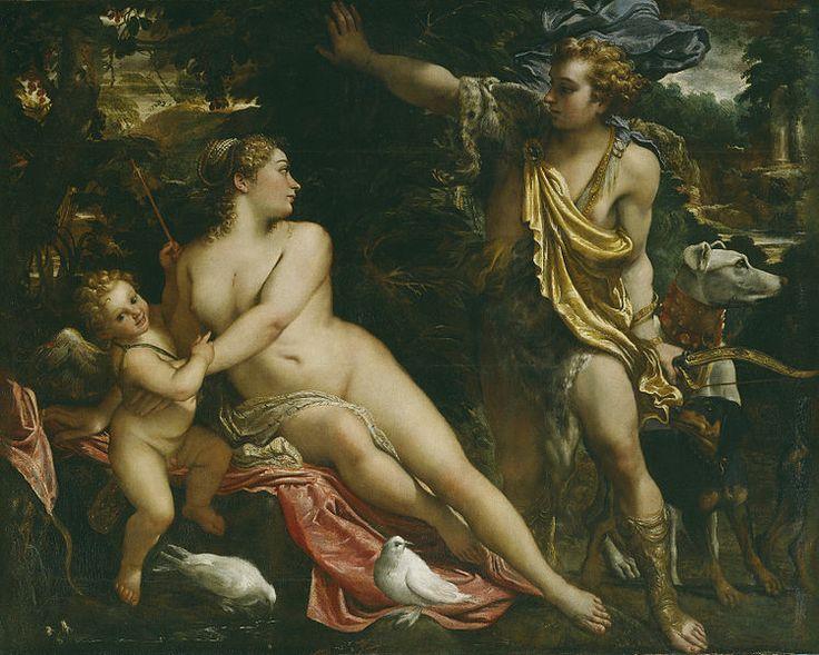 Venus, Adonis i Cupido (1590) Annibale Carracci. Museo del Prado (Madrid)