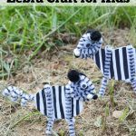 This Z is for Zebra Craft is a great activity to do when learning about the letter Z. It's also an easy animal themed craft for kids to do on a rainy day.