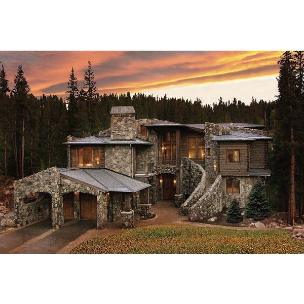 Colorado Luxury Mountain Homes For Sale Summit County Log Property... ❤ liked on Polyvore