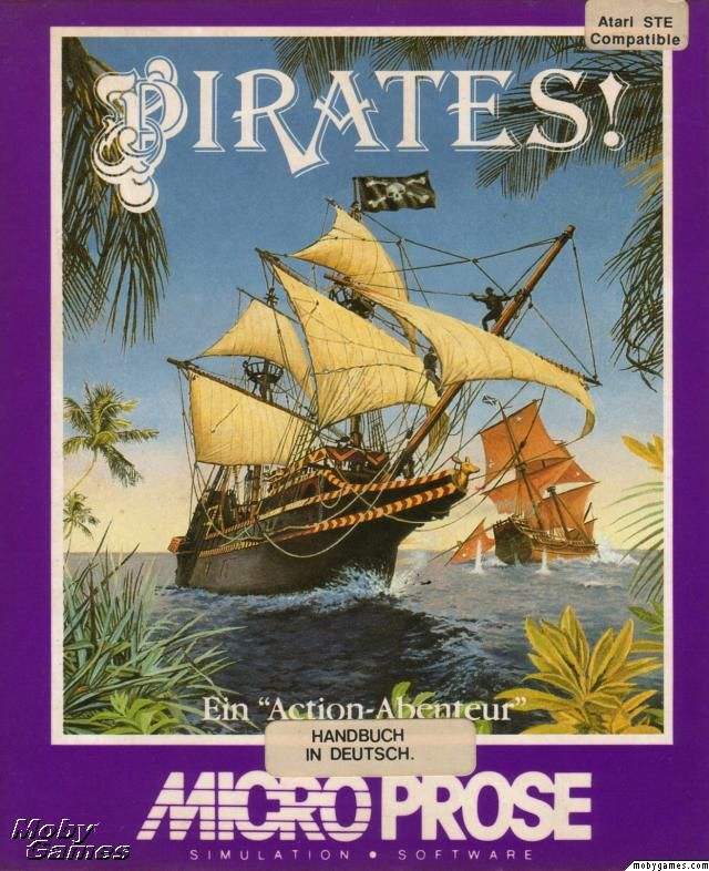 Sid Meier's Pirates! (1990) Amiga cover art - MobyGames