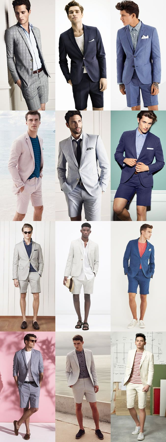 6 Statement Menswear Pieces for Spring/Summer 2015: 1. Men's Shorts Suits Lookbook Inspiration