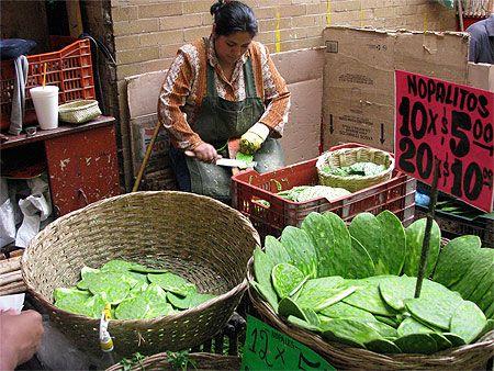Nopales in Mercado de la Merced - mexico City