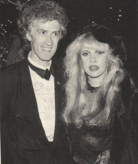 creepy Rupert Hine and Stevie ~ ☆♥❤♥☆ ~ he was a record producer and brief ex-boyfriend of hers; his claim to fame is producing Stevie's 1989 song, 'Rooms On Fire', one of the songs on her fourth solo studio album 'The Other Side of the Mirror'