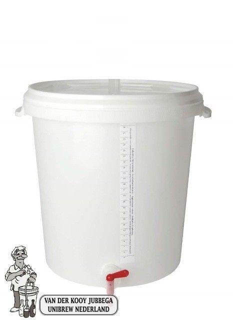 € 14,95 Bottel emmer 30 liter met deksel, bottelpijp en aftapkraan