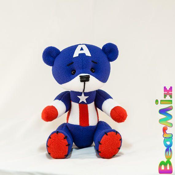 Captain America bear Капитан Америка мишка