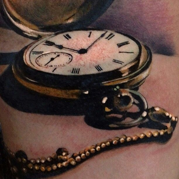 Realistic pocket watch tattoo  15 best Tattooing images on Pinterest | Beautiful tattoos, Tatoos ...