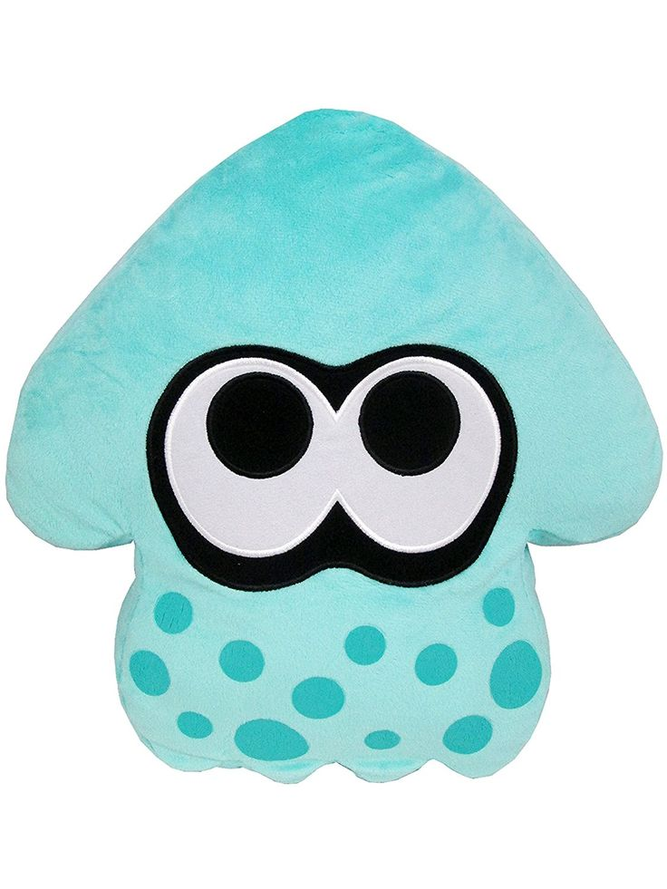 Splatoon squid cushion height 35cm turquoise: Amazon.co.uk: Toys & Games