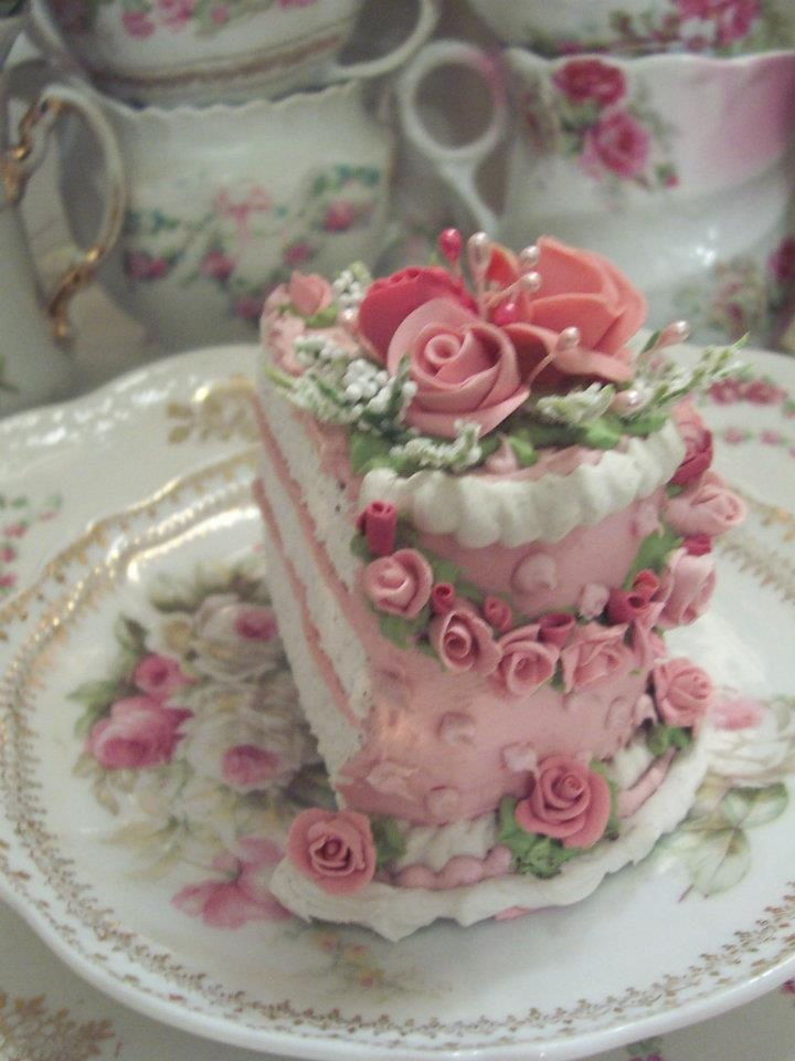 A slice of Shabby Cake...So Pretty!