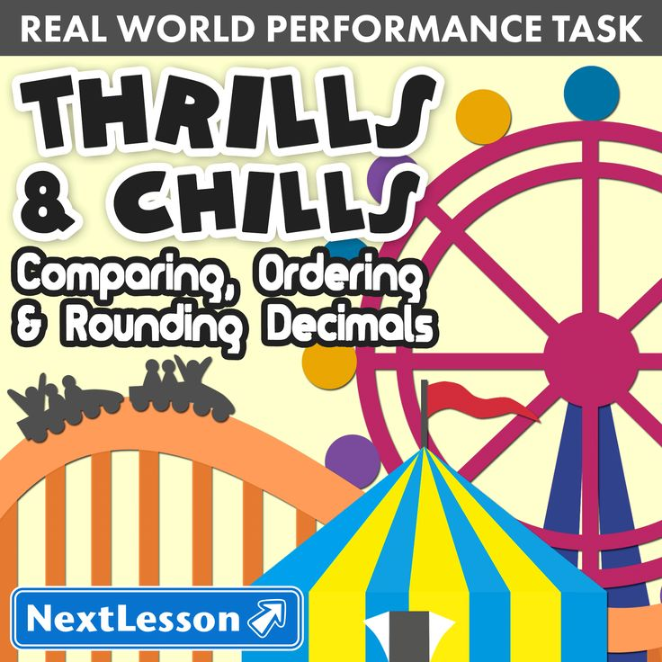 Place value: Comparing, Ordering & Rounding Decimals In Thrills & Chills