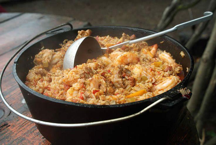 Jambalaya with chicken and sausage (aus dem Dutch Oven)