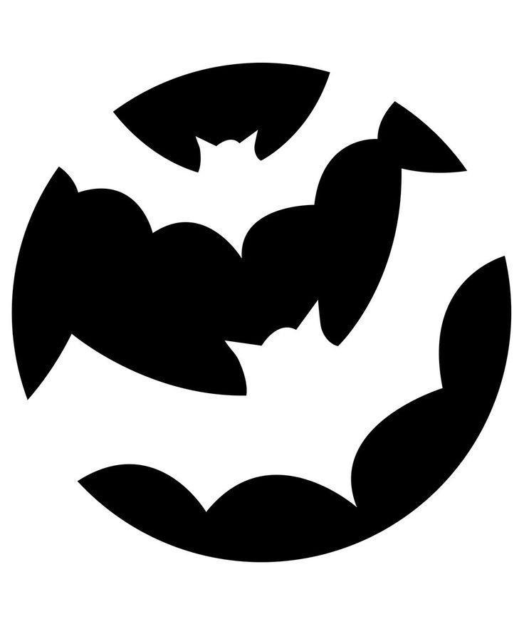 Halloween Pumpkin Carving Ideas Designs Jack o Lantern ... |Bats Boo Pumpkin Stencil
