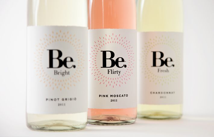 Be. is a new line of light white wines for summer 2012. Working with Yard NYC we developed the brand from concept to shelf. Summer colors, playful naming and nuanced printing give the brand a light & feminine feel.