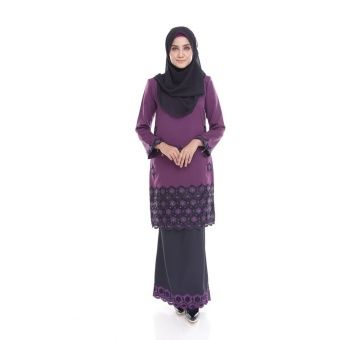 Seri Maharani Kurung Modern Jamie - Dark Purple Black Kurung Moden Jamie  is the latest collections from Seri Maharani for 2016, made of a very high quality material, comfortable to wear with perfect tailoring and unique embellishment Measurements:S - shoulder 14, chest 36, waist 34,... #bajukurung #bajukurungmoden