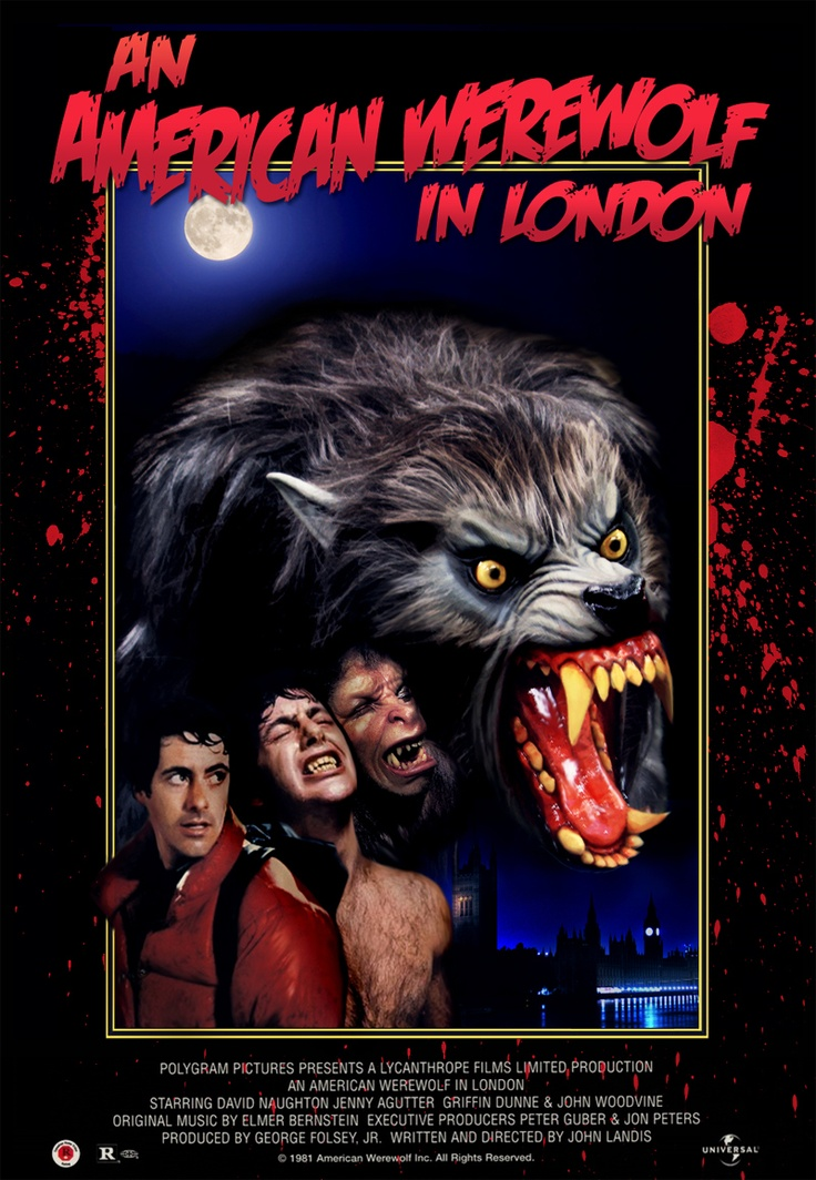 """""""It's a rainy night on the Welsh moors. Two American students on a walking tour of Europe trudge on to the next town, when suddenly the air is pierced by an unearthly howl ... Three weeks later, one is dead and the other is in the hospital."""" Find AN AMERICAN WEREWOLF IN LONDON in our catalog: http://highlandpark.bibliocommons.com/item/show/1689776035_an_american_werewolf_in_london"""