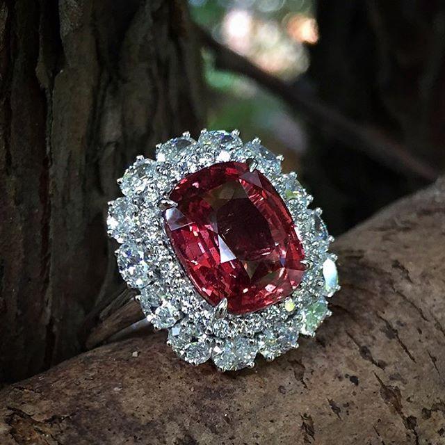 Fancy Sapphire & Diamond Ring