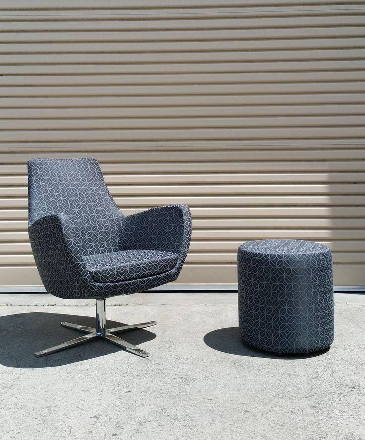 CARM chair & SOFIE ottoman by Burgtec