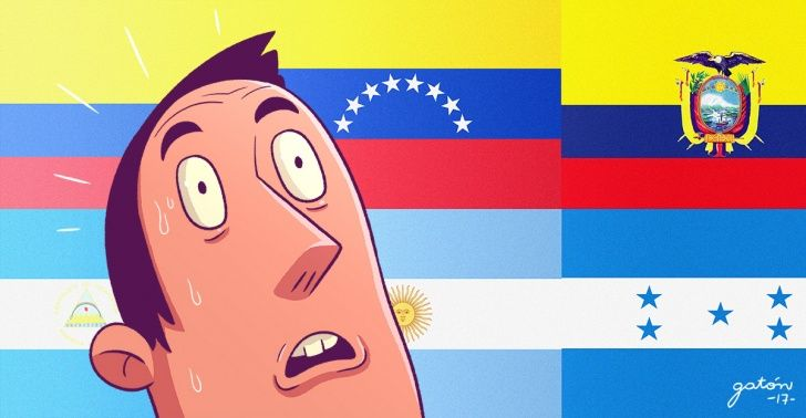 ¿Conoces la diferencia entre la bandera de Nicaragua y El Salvador? ¡Te desafiamos a escribirla antes de leer esto!