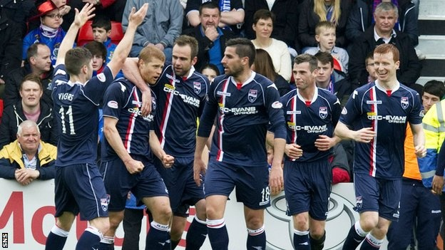 May 19 Ross County beat Inverness CT for the first time since 2009, which helped edge their Highland rivals out of a Europa League spot for season 2013/14.