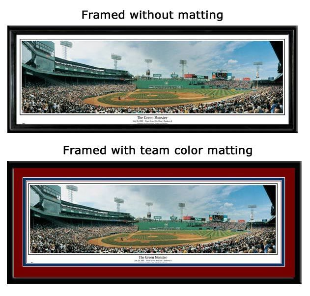 Boston Red Sox Fenway Park The Green Monster Framed Poster