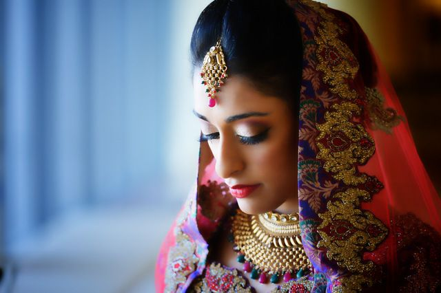 Stunning bride with amazing colors