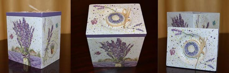 Wooden box, decoupaged with lavender <3 More on https://www.facebook.com/CredentulVesel