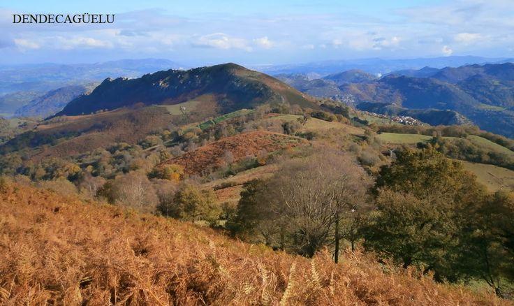 Sierra de Buanga, tocht van Proaza naar San Andrés, Asturias, begin januari.