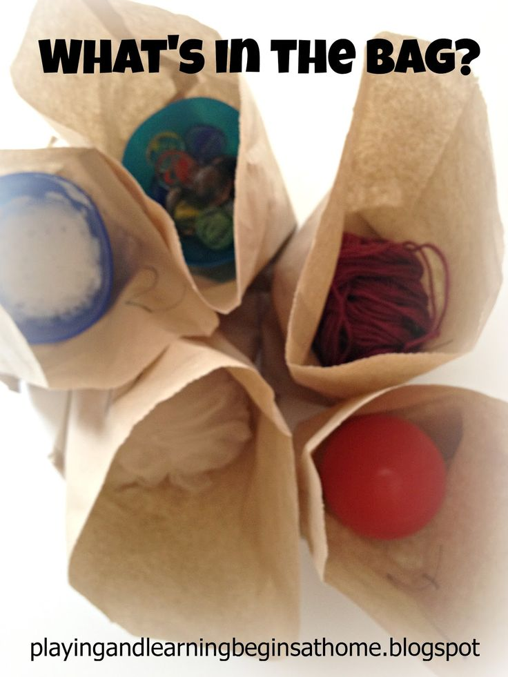 Playing and Learning Begins at Home: What's in the bag? Investigate touch