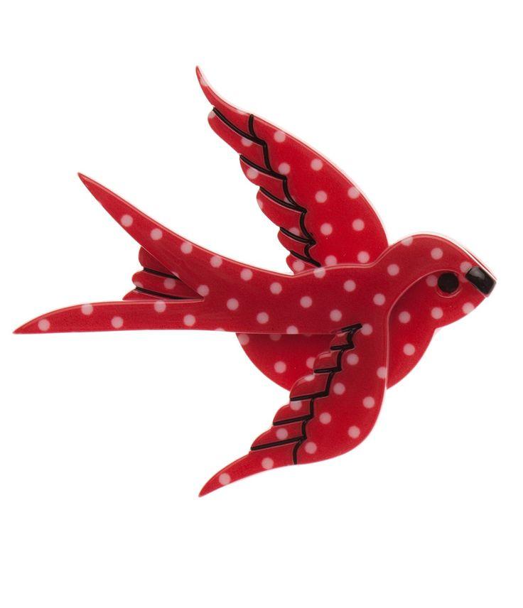 Erstwilder Bluebird of Happiness Brooch #uniquevintage