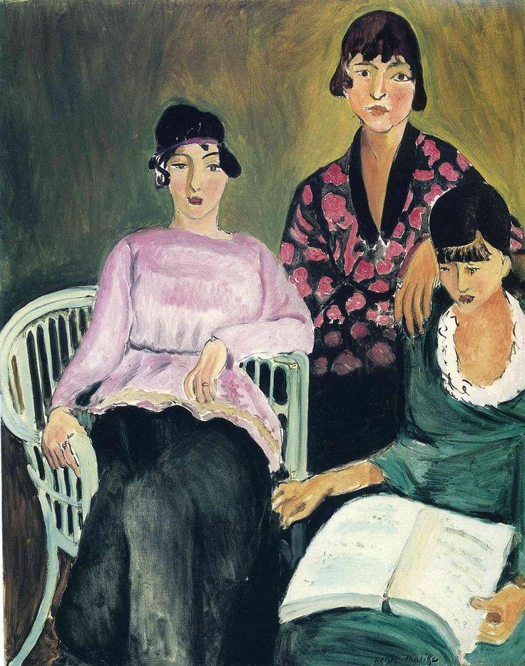 Three Sisters - 1917 - Henri Matisse #art #painting