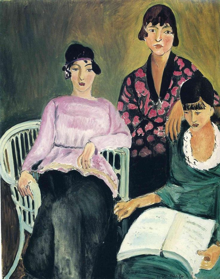 Three Sisters - 1917 - Henri Matisse #art #painting