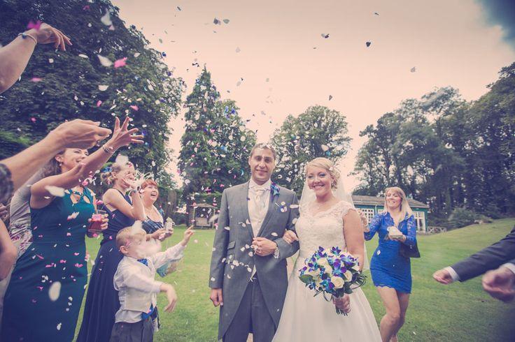Jenny & Richard's wedding teasers at Coed Y Mwstwr, Bridgend
