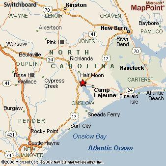 Jacksonville NC | Jacksonville North Carolina Map