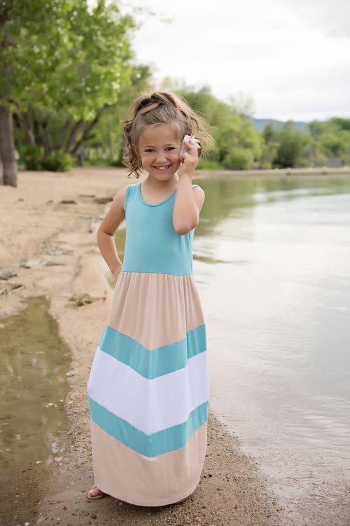 Teal and Mocha Chevron Tank Maxi, Chevron Dress, Tank Dress, Ryleigh Rue, Kids Clothing, Online Shopping, Online Boutique, Boutique, Dress, Maxi Dress, Fashion, Style