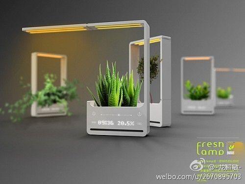 Fresh Lamp植物灯设计_产品设计...