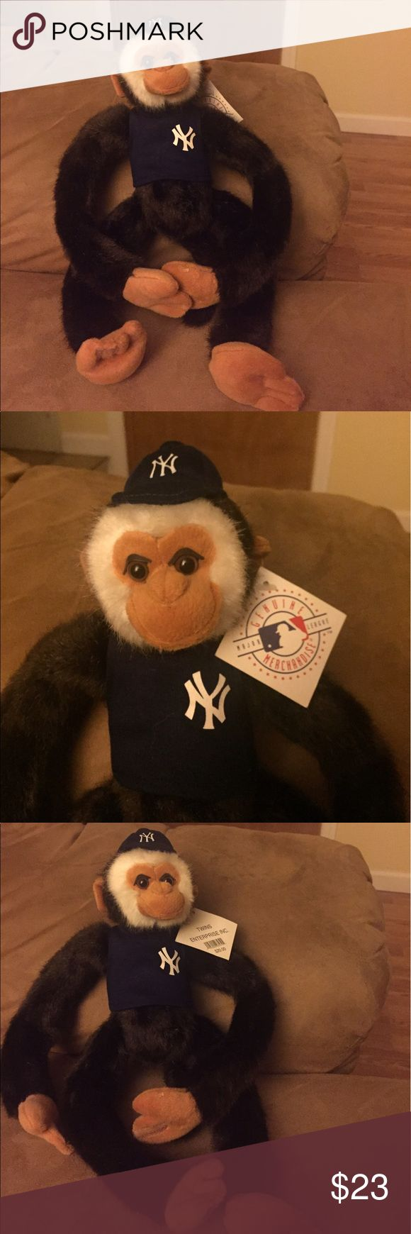Toy Stuffed animal monkey with NY logo, brand new both for $23. Each $13 Other