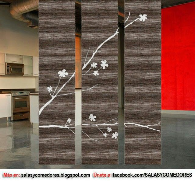 37 best images about biombos y divisiones on pinterest for Decoracion biombos separadores