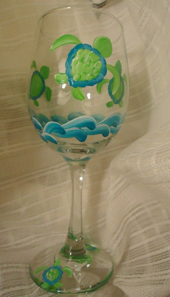 Best 25 wine glass drawing ideas on pinterest for Painted glass fish