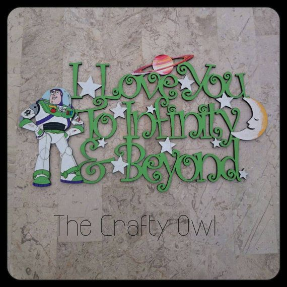 Toy Story Buzz Lightyear Wall/Door Plaque I Love by TheCraftyOwl46