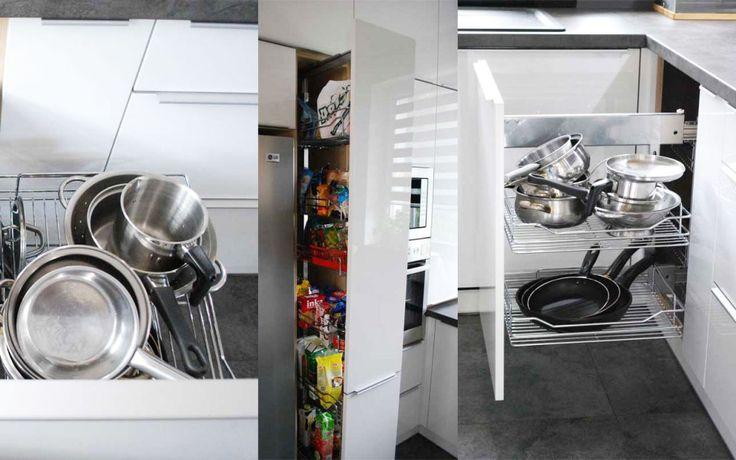 Mała kuchnia na wymiar z ciekawymi rozwiązaniami (meble produkowane przez Mobiliani Bydgoszcz)