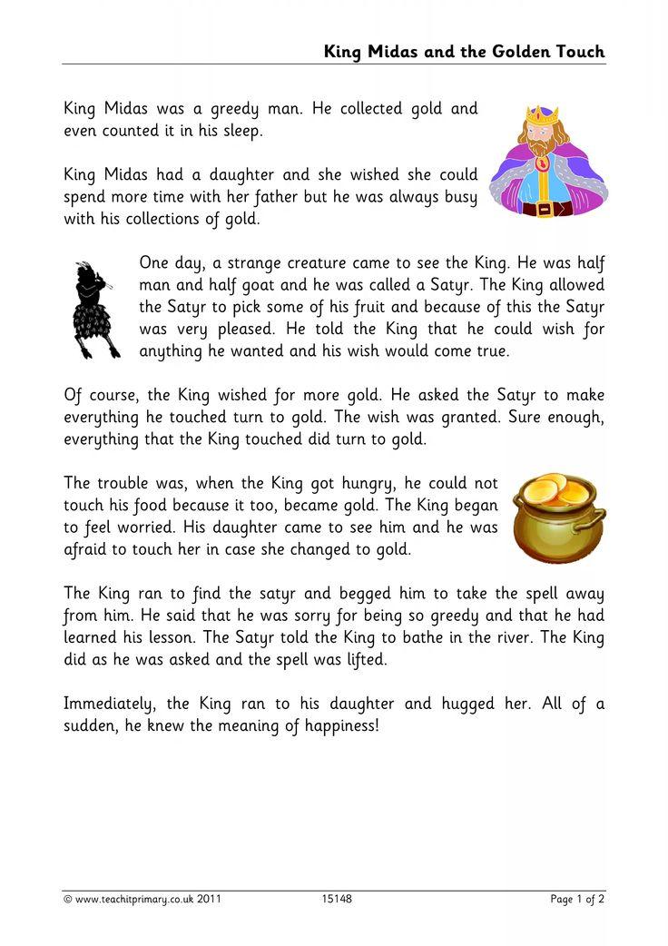King Midas adolescent dev Pinterest Language arts, Language - best of coloring pages of king midas
