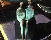 ROMANTIC BRONZE ANNIVERSARY >> A stately, modern bronze sculpture / anniversary gift marking eight years of marriage.