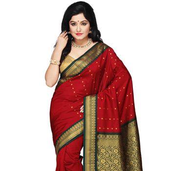 Dark Red Silk Blouse 32